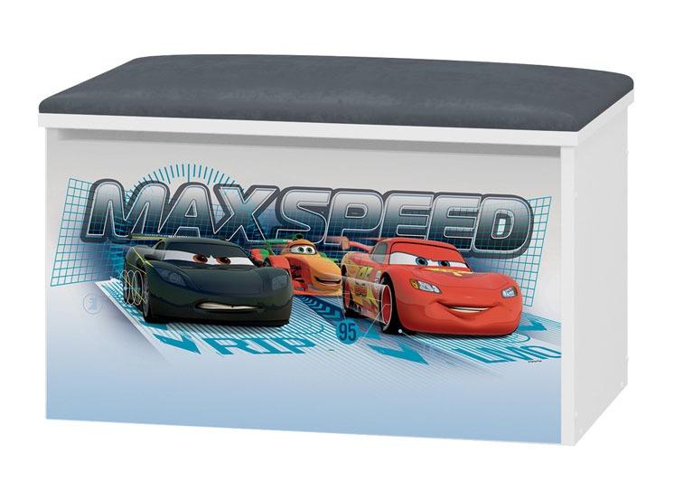 Tapicerowany pojemnik na zabawki Cars Dsney