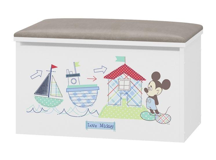 Tapicerowany pojemnik na zabawki Mickey Mouse